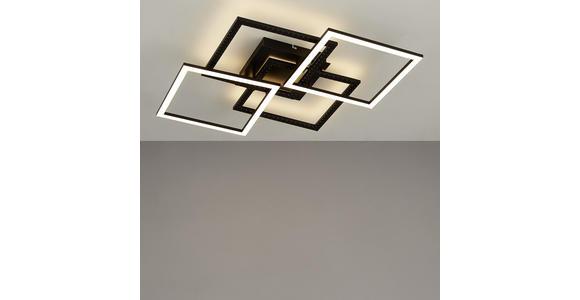 LED-DECKENLEUCHTE   - Schwarz, Design, Metall (61/61/8,5cm) - Ambiente