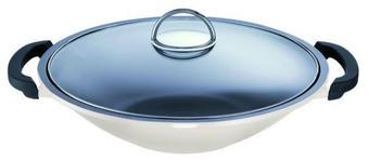WOK 36 cm PTFE-Antihaftbeschichtung - Weiß, Basics, Glas/Metall (36cm) - SCHULTE UFER