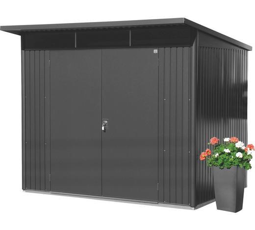GERÄTEHAUS 260/218/220 cm - Dunkelgrau, Design, Metall (260/218/220cm) - Biohort