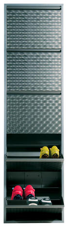 SCHUHKIPPER Silberfarben - Silberfarben, Basics, Metall (50/170/14cm) - Kare-Design