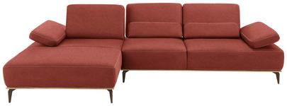 WOHNLANDSCHAFT in Textil Rot - Beige/Rot, Natur, Textil/Metall (178/298cm) - Valnatura