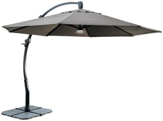 AMPELSCHIRM 350 cm Taupe - Taupe/Anthrazit, Design, Kunststoff/Textil (350/281cm) - AMBIA GARDEN