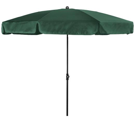 SLUNEČNÍK - tmavě zelená/antracitová, Basics, kov/textil (200cm) - Doppler