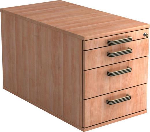 ROLLCONTAINER - Nussbaumfarben/Alufarben, KONVENTIONELL, Holzwerkstoff/Kunststoff (42,8/51,2/80cm)