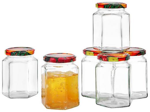MARMELADENGLAS-SET - Transparent, Glas/Metall (0,287l)