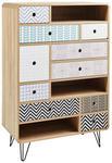 KOMMODE 80/120/40 cm  - Eichefarben/Multicolor, Design, Holzwerkstoff/Metall (80/120/40cm) - Carryhome