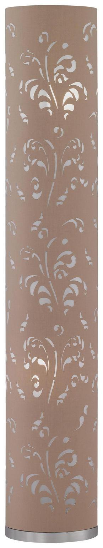 GOLVLAMPA - kromfärg, Klassisk, metall/textil (110cm)