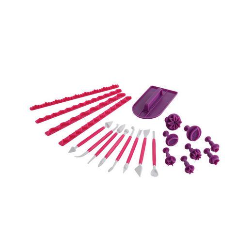 BACK-UND MODELIER SET - Pink/Lila, Kunststoff