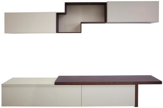 WOHNWAND in Kastanienfarben, Weiß - Kastanienfarben/Weiß, Design, Holz/Holzwerkstoff (270/165,6/47,7cm) - Dieter Knoll