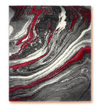 Webteppich Line - Rot, Basics, Textil (120/170cm) - Ombra