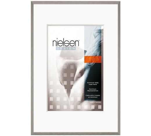 BILDERRAHMEN  Grau  - Grau, Basics, Glas/Metall (10/15cm) - Nielsen
