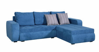 SEDEŽNA GARNITURA,  turkizna tekstil  - turkizna, Design, tekstil (245/170cm) - Boxxx