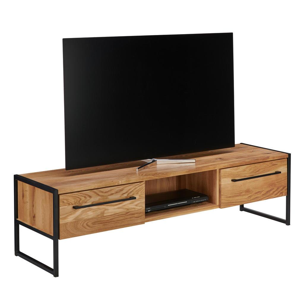 Lomoco Tv-element eiche massiv schwarz