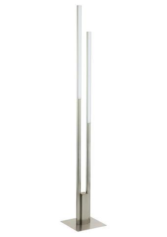 Led-stehleuchte - Weiß/Nickelfarben, Design, Kunststoff/Metall (28/175,5cm)