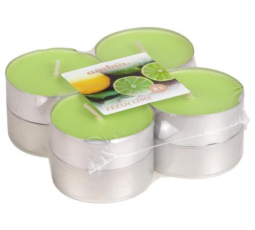 ČAJOVÁ SVÍČKA - světle zelená/barvy hliníku, Basics, kov (5,7/2,2cm) - Ambia Home