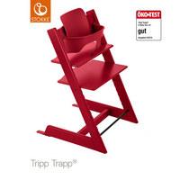 Tripp Trapp Hochstuhl Buche Hartholz, massiv Red - Rot, Basics, Holz (46/79/49cm) - Stokke