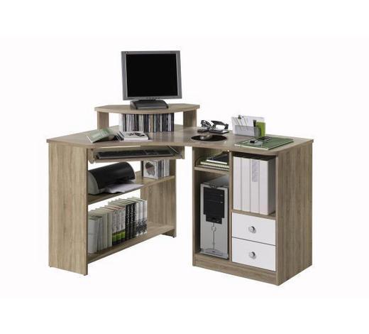 PISAĆI STOL KUTNI - bijela/boje srebra, Design, drvni materijal/plastika (137/78/97cm) - Boxxx