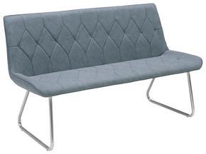 SITTBÄNK - grå/rostfritt stål-färgad, Design, metall/textil (155/88/65cm) - Novel