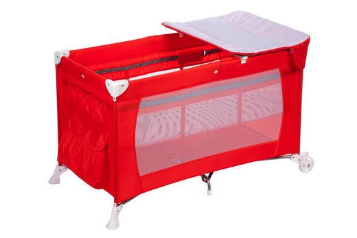 REISEBETT Full Dreams Rot - Rot, Basics, Kunststoff/Textil (77/103/73cm) - Safety 1st