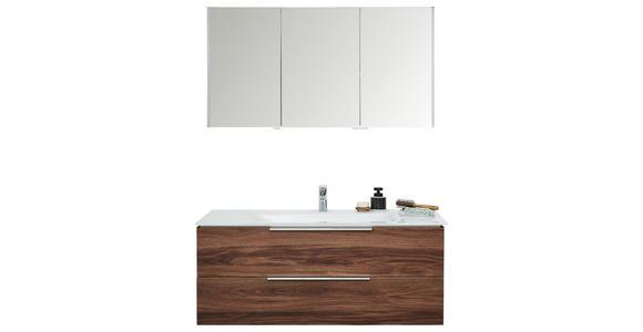 BADEZIMMER - Eichefarben/Weiß, Design, Glas/Holzwerkstoff (120cm) - Dieter Knoll