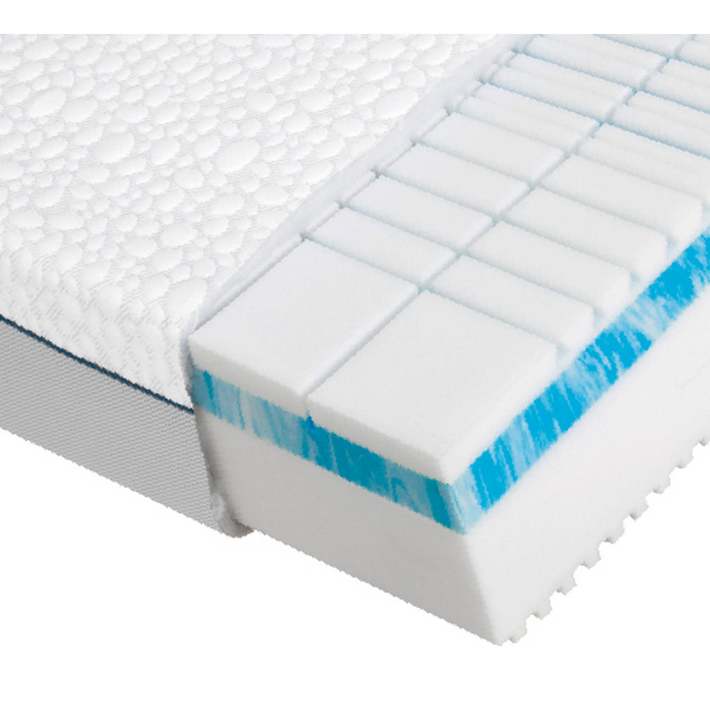 Dieter Knoll Kaltschaummatratze Polar 3D Premium 2.0 , Weiß , Textil , H3 , rechteckig , 100x200 cm , Härtegradauswahl, Bezug abnehmbar/waschbar, für verstellbare Lattenroste geeignet, atmungsaktiv, aktive Schulterzone , Schlafzimmer, Matratzen Shop, Kaltschaummatratzen