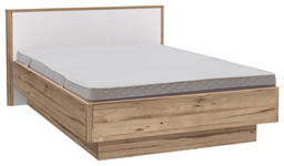 BETT 120 cm   x 200 cm   in Holzwerkstoff Eichefarben, Weiß - Eichefarben/Weiß, KONVENTIONELL, Holzwerkstoff (120/200cm) - Xora