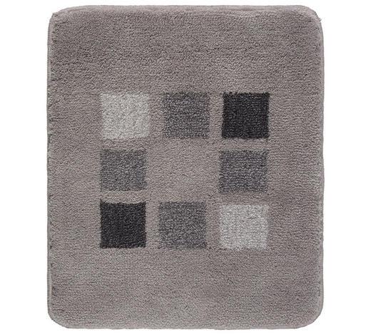 BADTEPPICH  Silberfarben  50/60 cm     - Silberfarben, KONVENTIONELL, Kunststoff/Textil (50/60cm) - Kleine Wolke
