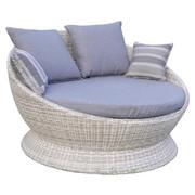 SONNENINSEL - Hellgrau/Grau, Design, Kunststoff/Textil (143/85/140cm) - Ambia Garden