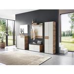 GARDEROBENBANK 98/48/40 cm  - Kaschmir/Eichefarben, Design, Glas/Holzwerkstoff (98/48/40cm) - Voleo