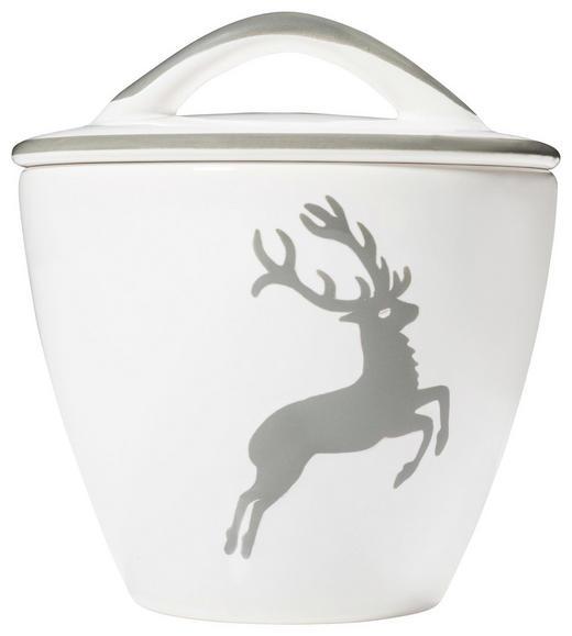 ZUCKERDOSE - Weiß/Grau, LIFESTYLE, Keramik (11cm) - Gmundner