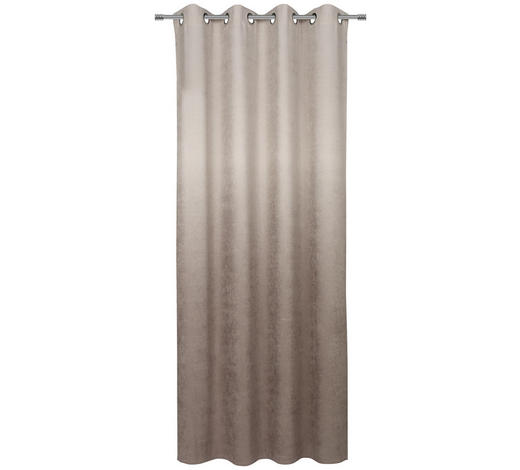 ÖSENVORHANG blickdicht  - Taupe, KONVENTIONELL, Textil (140/245cm) - Esposa