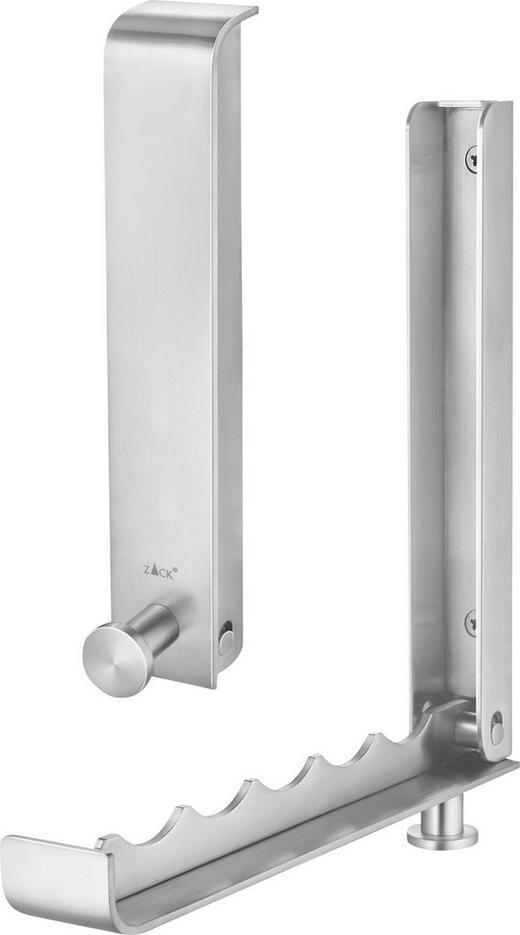 HAKENLEISTE Edelstahlfarben - Edelstahlfarben, Design, Metall (6/ 23/4cm)