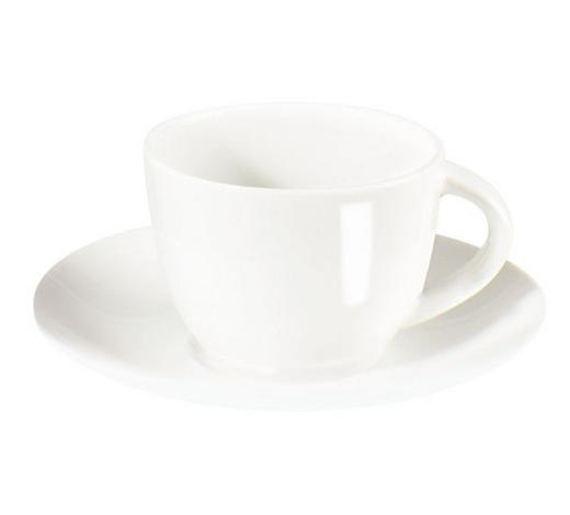 ESPRESSOTASSE MIT UNTERTASSE  - Weiß, Basics, Keramik (0.07l) - ASA