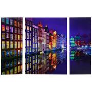 Städte GLASBILD - Multicolor, Design, Glas (60/80/5cm) - Eurographics