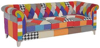 SEDEŽNI ELEMENT  večbarvno tekstil - večbarvno/srebrna, Design, kovina/tekstil (220/79/86cm) - Hom`in