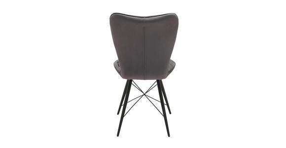 STUHL in Metall, Textil Grau, Schwarz  - Schwarz/Grau, Design, Textil/Metall (49/90/61cm) - Hom`in