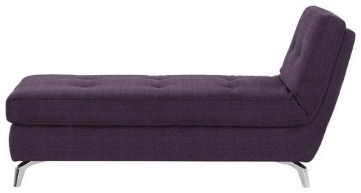 RECAMIERE Flachgewebe Violett - Chromfarben/Violett, Design, Textil/Metall (200/110/83cm) - Bali