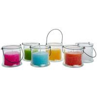 Kerze Im Glas - Klar/Pink, Basics, Glas/Metall (13/13cm) - Ambia Home