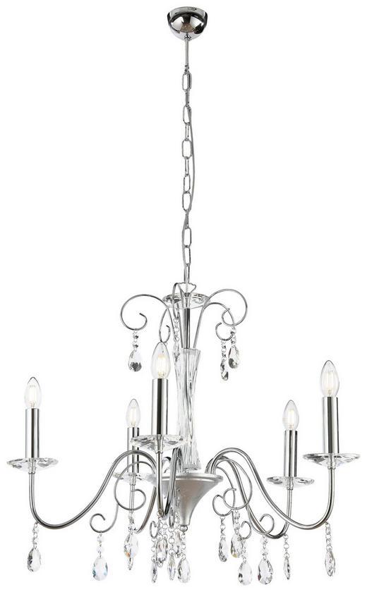 HÄNGELEUCHTE - Silberfarben, LIFESTYLE, Glas/Metall (64/65cm)