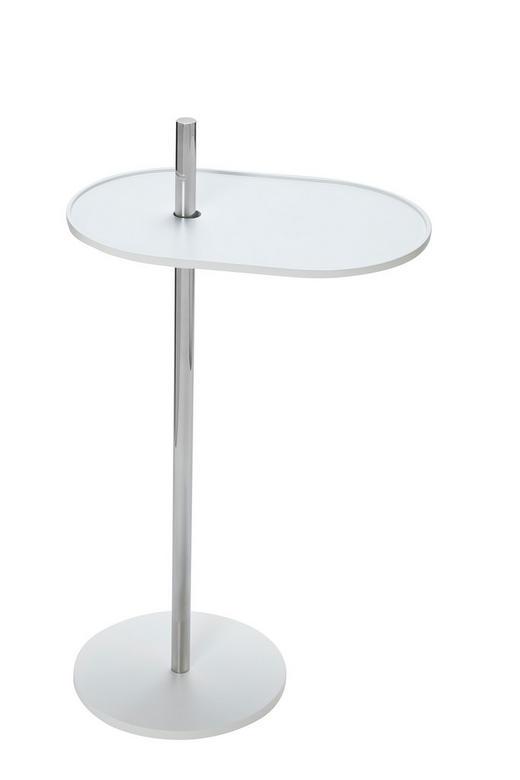 BEISTELLTISCH Weiß - Weiß, Design, Metall (39/70/25cm) - Carryhome