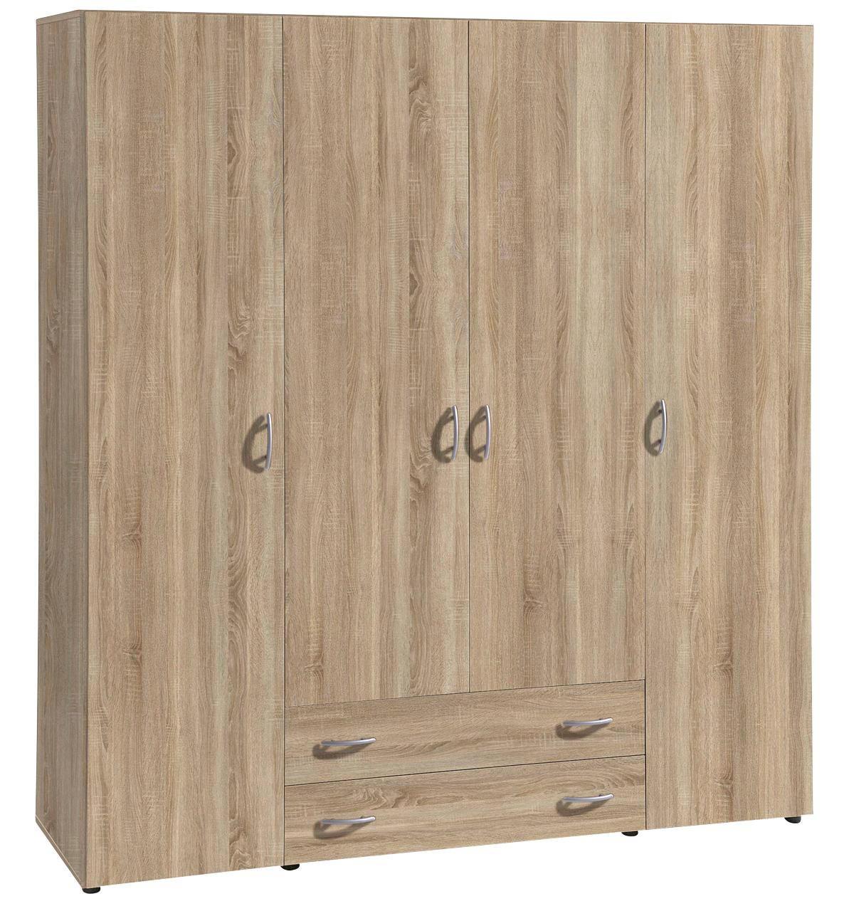 ORMAR - boje hrasta/boje aluminija, Konvencionalno, drvni materijal/plastika (161/176/53cm) - BOXXX