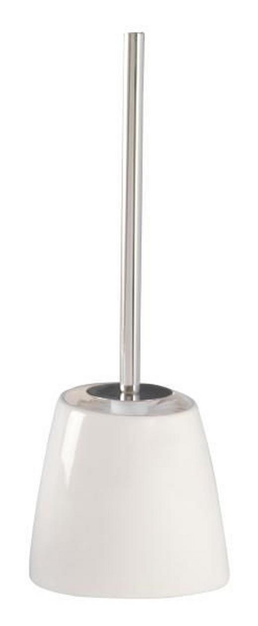 WC-BÜRSTENGARNITUR - Weiß, Design, Keramik/Kunststoff (15/41,5/12cm)