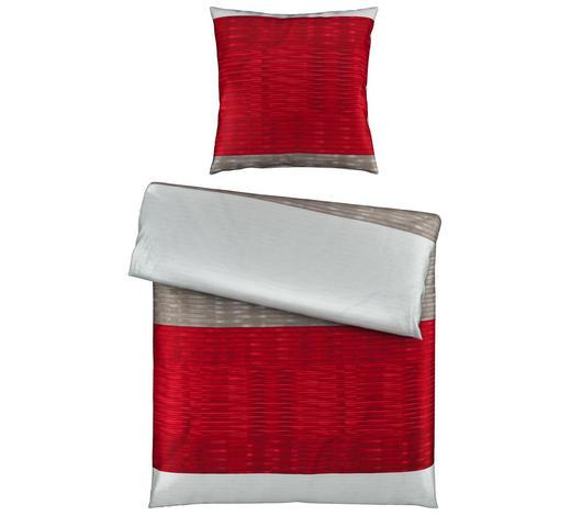 BETTWÄSCHE Satin Grau, Bordeaux 155/220 cm  - Bordeaux/Grau, Trend, Textil (155/220cm) - Esposa