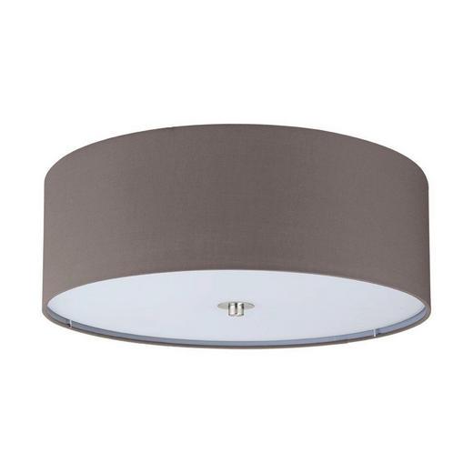 DECKENLEUCHTE - Anthrazit/Braun, Design, Textil/Metall (47,5cm)