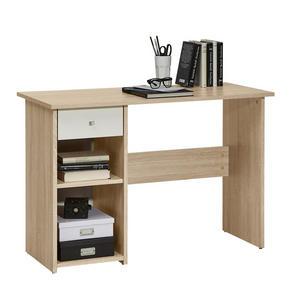 SKRIVBORD - vit/alufärgad, Klassisk, träbaserade material/plast (110/75/50cm) - Low Price