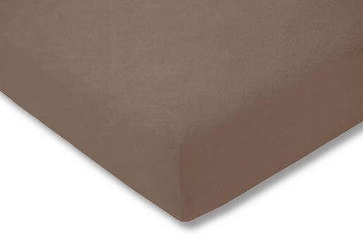 SPANNBETTTUCH Braun bügelfrei - Braun, Basics, Textil (150/200cm) - Estella