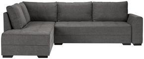 SOFFA - wengefärgad/grå, Design, trä/textil (268/208cm) - Xora