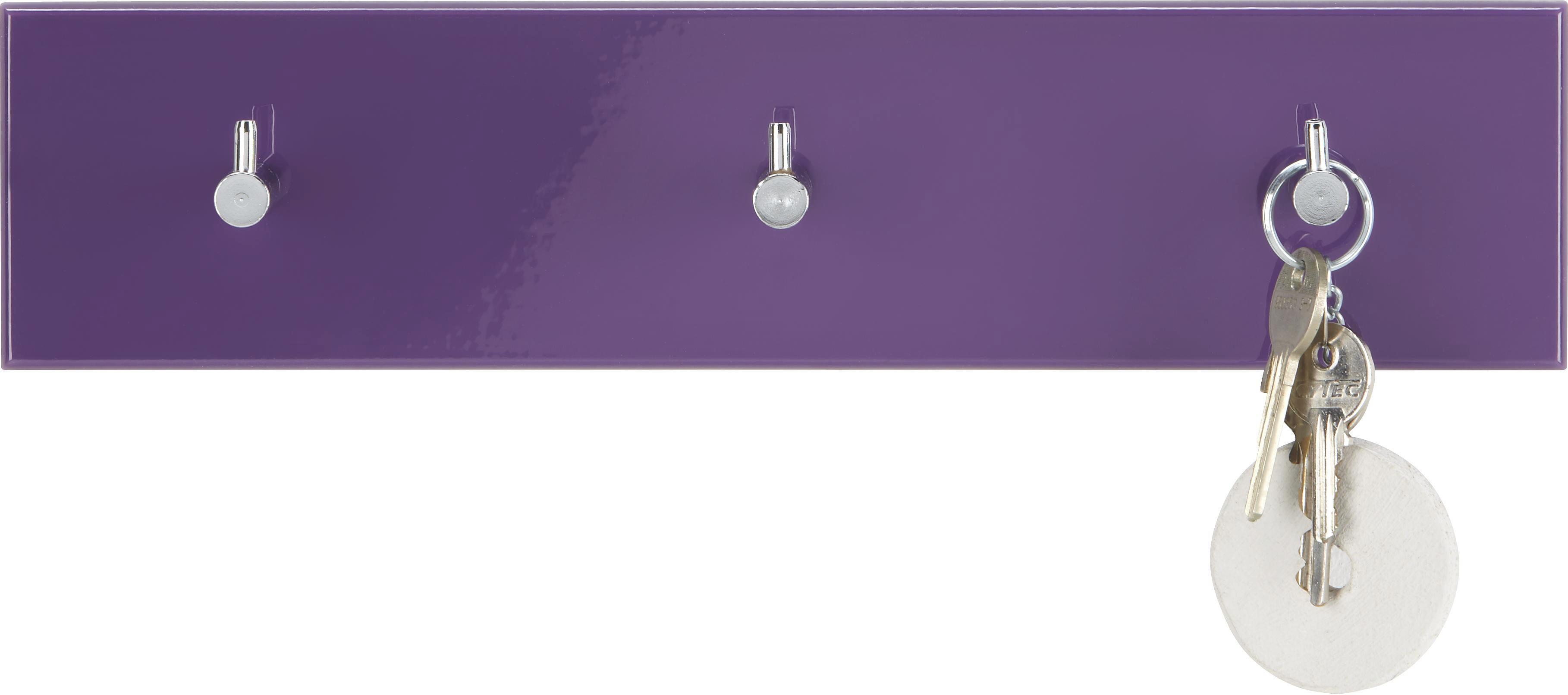 GARDEROBA ZIDNA - boje kroma/kupina, Design, drvo/metal (34/5/8cm) - BOXXX