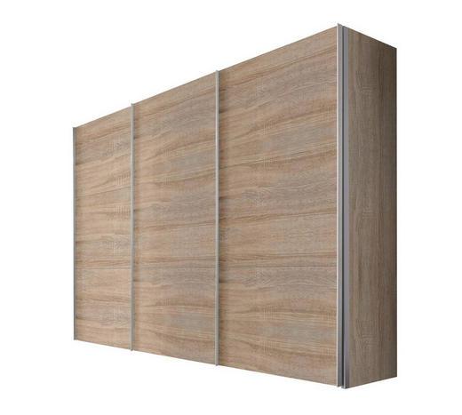 SCHWEBETÜRENSCHRANK 3-türig Sonoma Eiche - Alufarben/Sonoma Eiche, KONVENTIONELL, Holzwerkstoff/Metall (300/216/68cm) - Hom`in