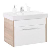 SPODNÍ UMYVADLOVÁ SKŘÍŇKA - bílá/barvy dubu, Design, dřevěný materiál/umělá hmota (75/51,5/47cm) - Xora